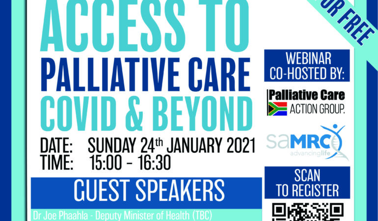 FULL VIDEO OF THE WEBINAR FOR : ACCELERATING ACCESS TO PALLIATIVE CARE DURING COVID-19 AND BEYOND – 24 January 2021